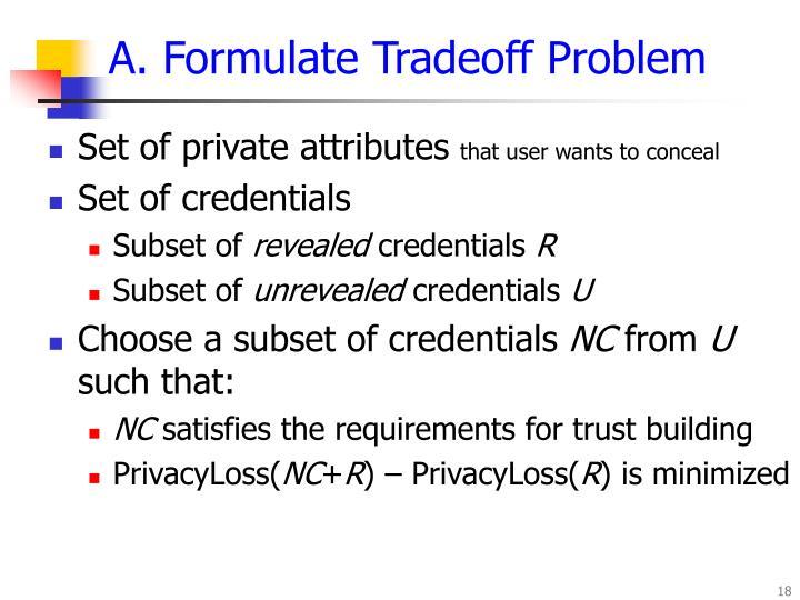 A. Formulate Tradeoff Problem