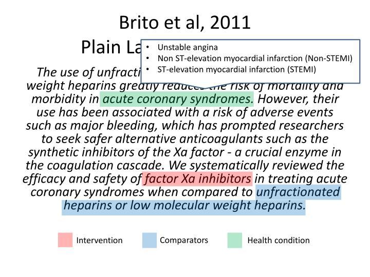 Brito et al, 2011