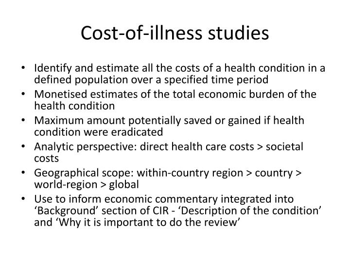 Cost-of-illness studies