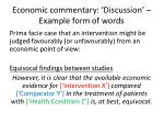 economic commentary discussion example form of words1