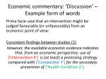 economic commentary discussion example form of words2