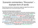 economic commentary discussion example form of words3