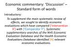 economic commentary discussion standard form of words