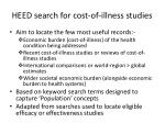 heed search for cost of illness studies