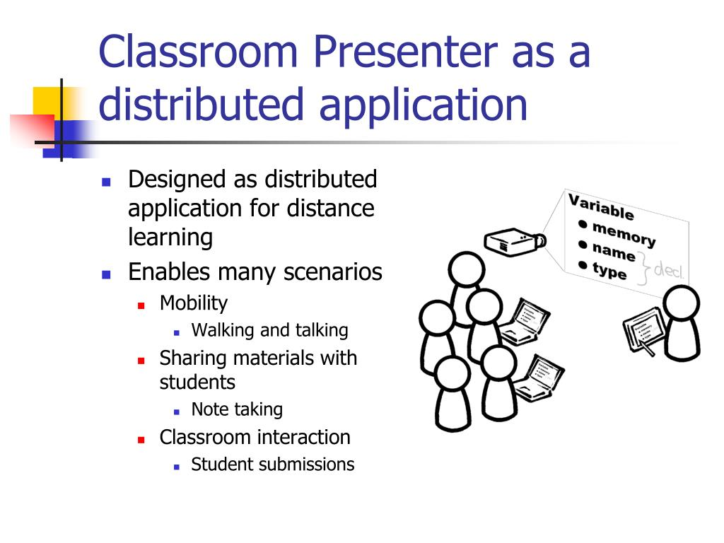 Classroom Presenter as a distributed application