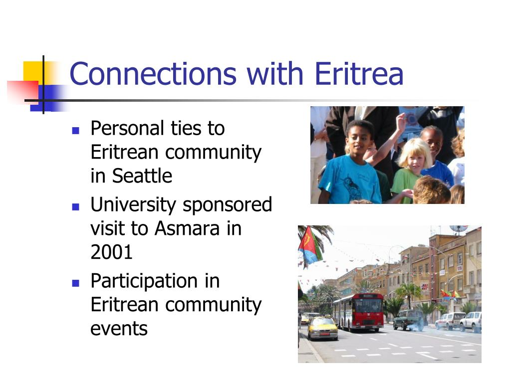 Connections with Eritrea