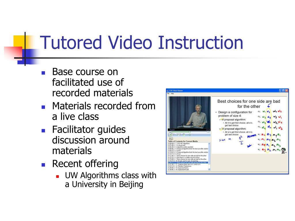 Tutored Video Instruction