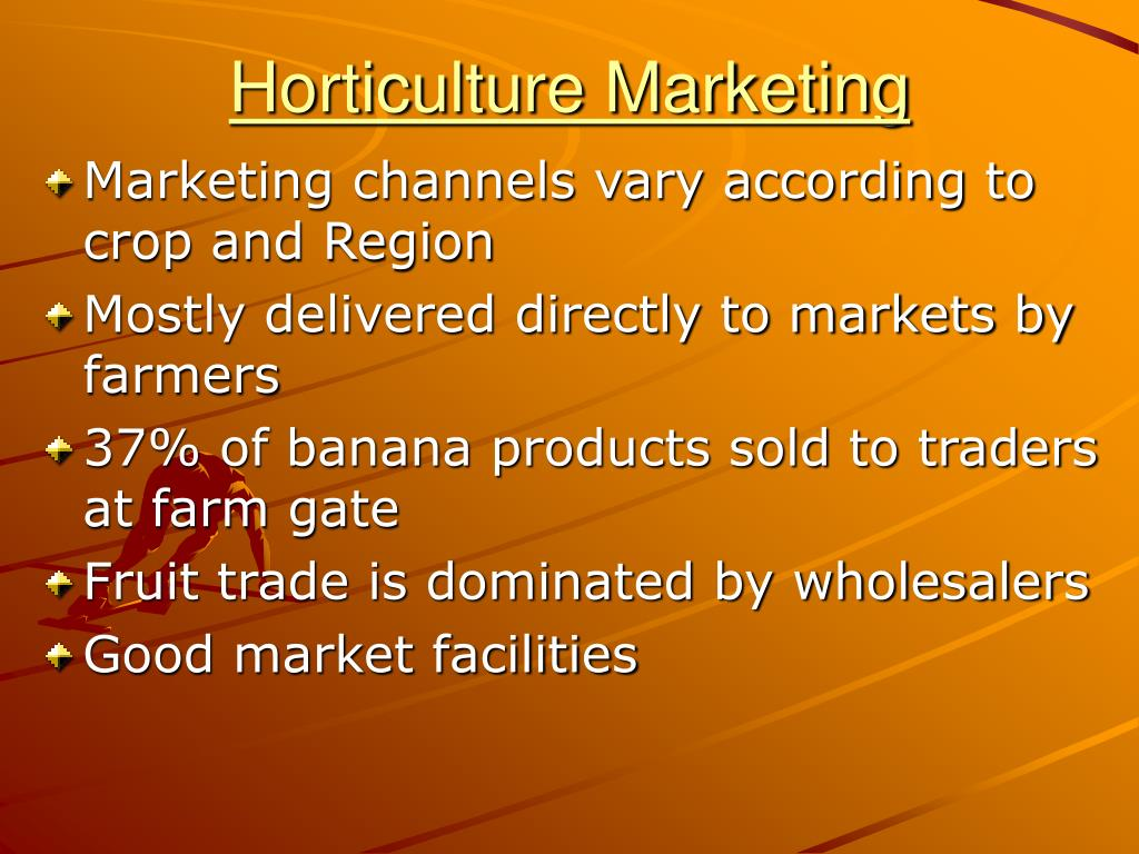 Horticulture Marketing
