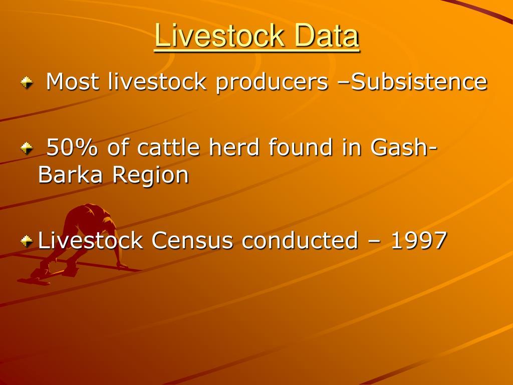 Livestock Data
