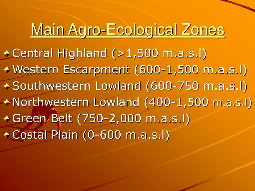 Main Agro-Ecological Zones