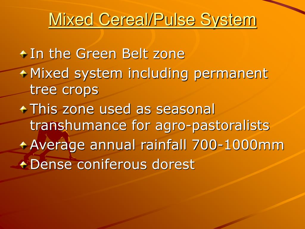 Mixed Cereal/Pulse System