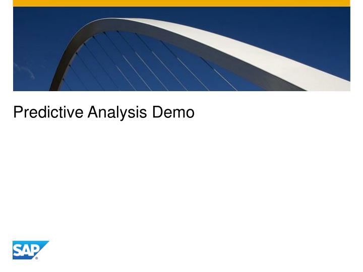 Predictive Analysis Demo
