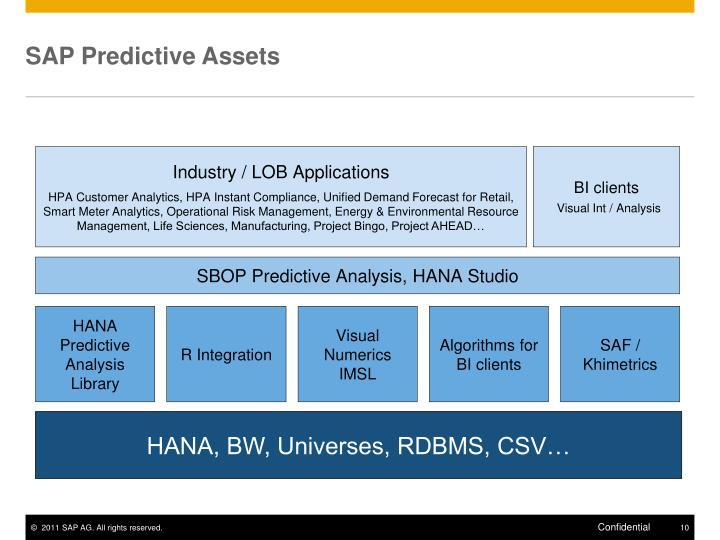 SAP Predictive Assets