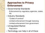 approaches to privacy enforcement