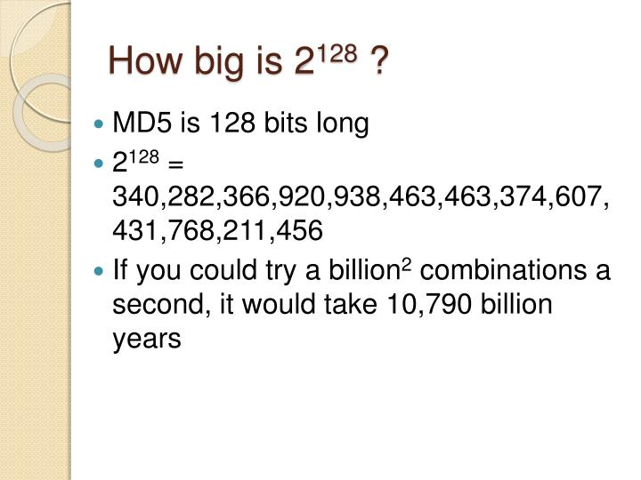 How big is 2