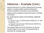 inference example cont