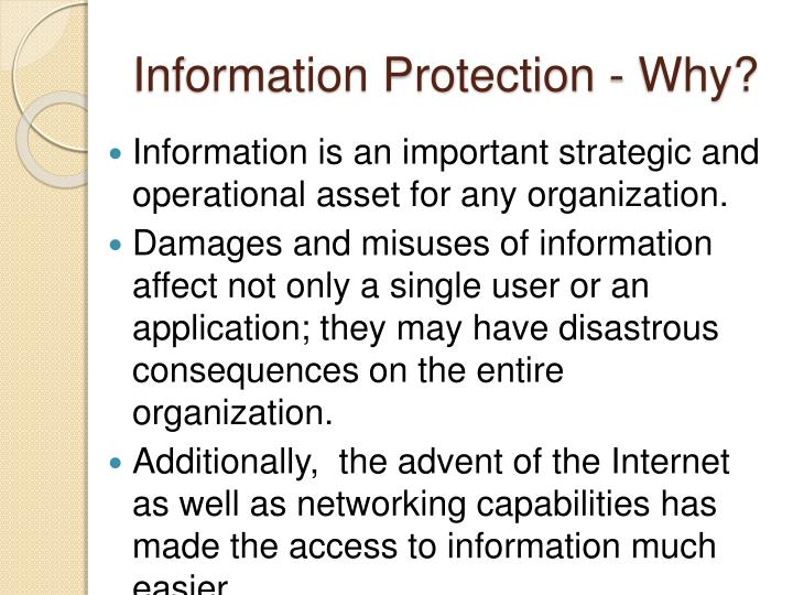 Information Protection - Why?