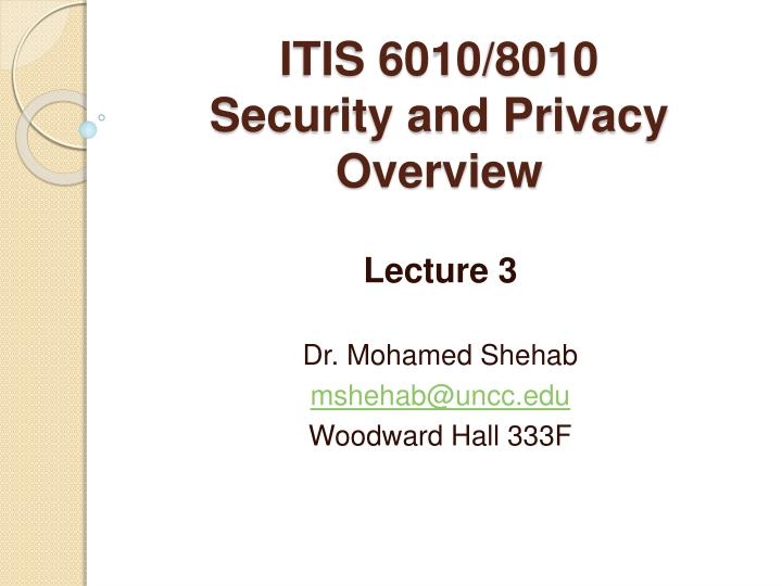 Itis 6010 8010 security and privacy overview