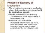 principle of economy of mechanism
