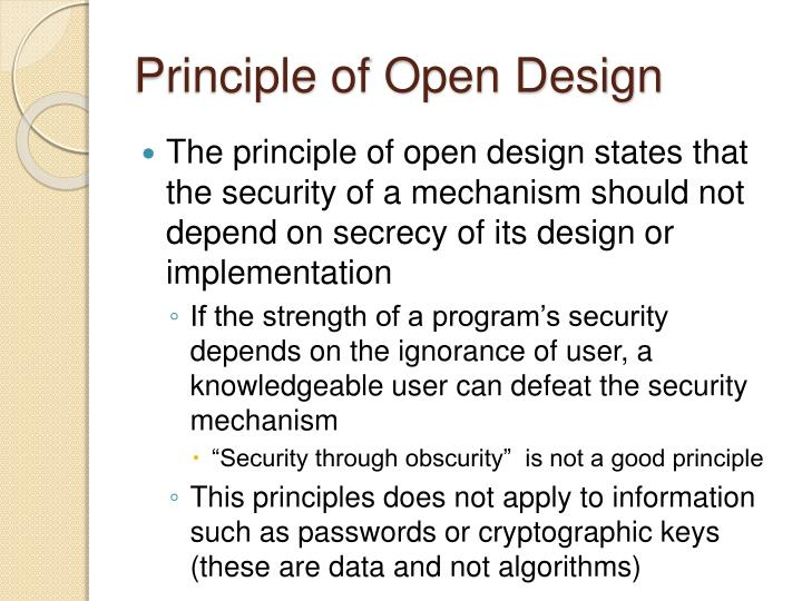 Principle of Open Design