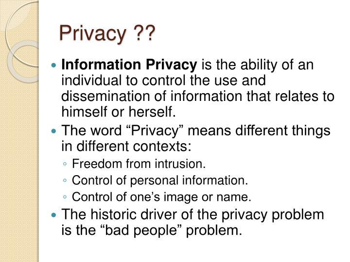 Privacy ??