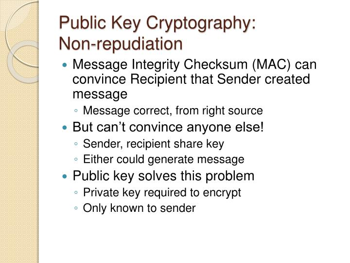 Public Key Cryptography: