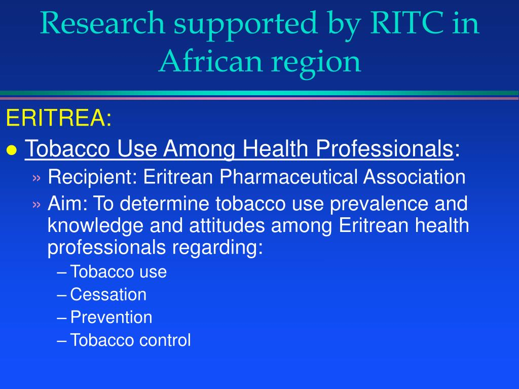 Research supported by RITC in
