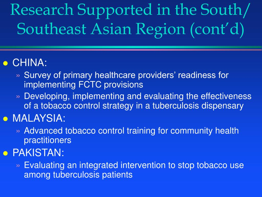 Research Supported in the South/
