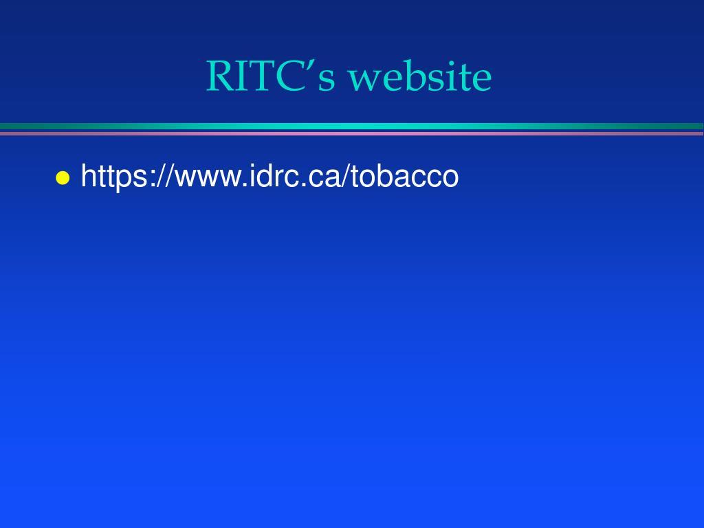 RITC's website