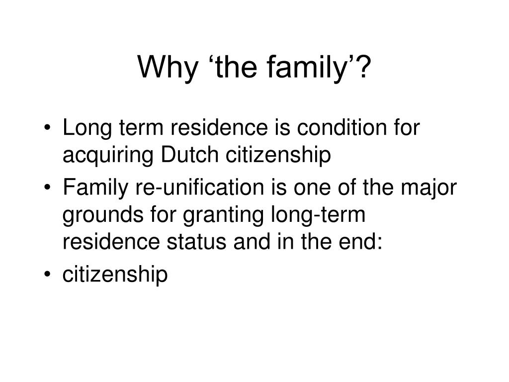 Why 'the family'?