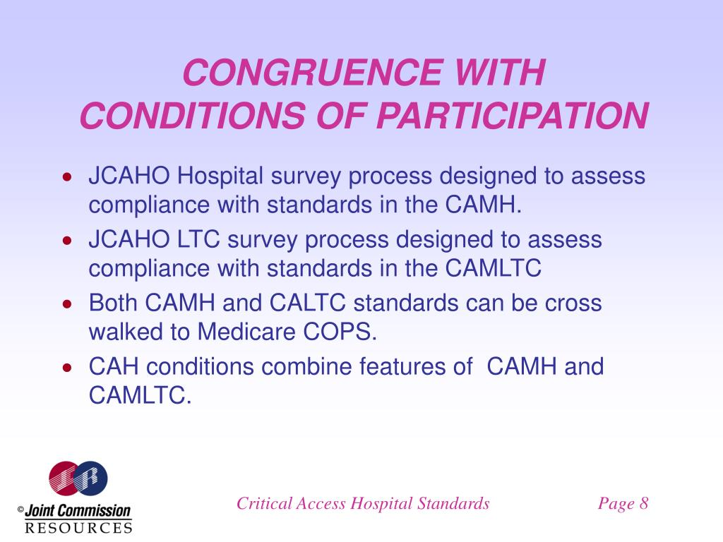 CONGRUENCE WITH CONDITIONS OF PARTICIPATION
