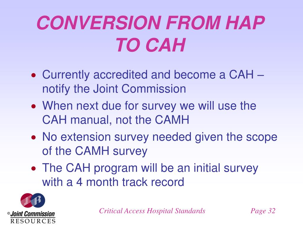CONVERSION FROM HAP TO CAH
