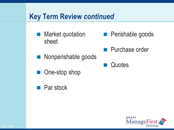 Market quotation sheet