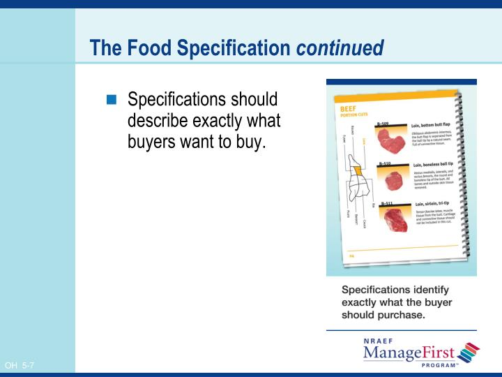 The Food Specification