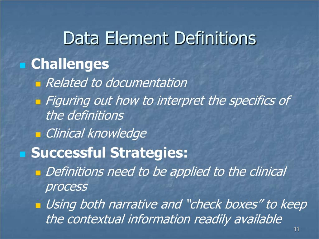 Data Element Definitions