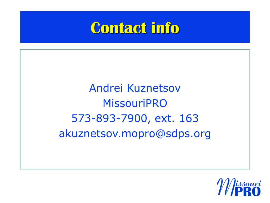 Contact info