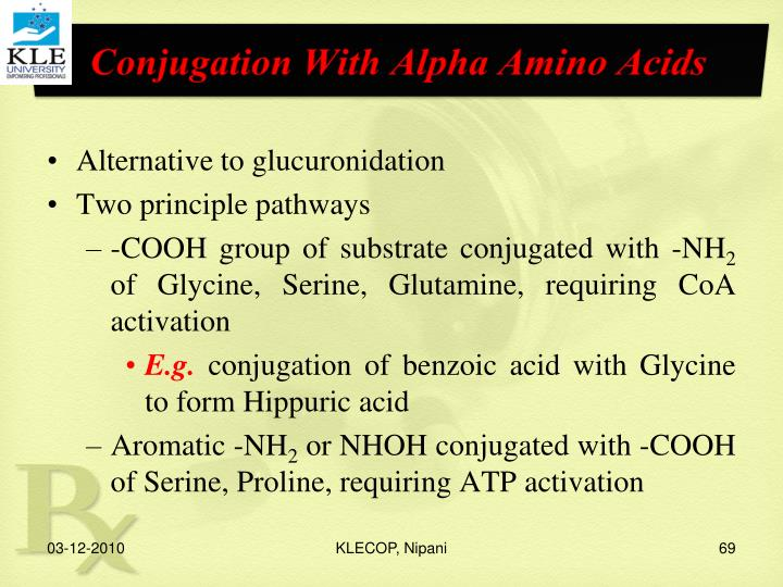 Conjugation With Alpha Amino Acids