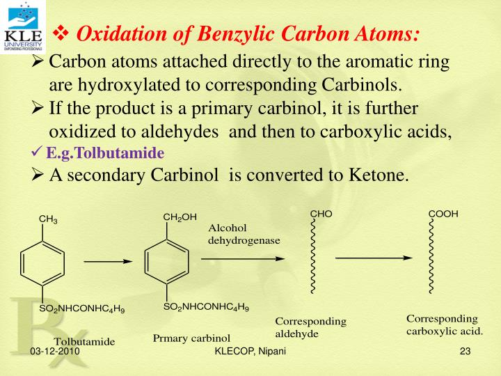 Oxidation of Benzylic Carbon Atoms: