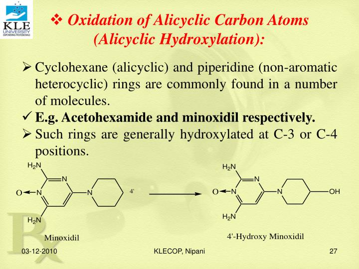 Oxidation of Alicyclic Carbon Atoms