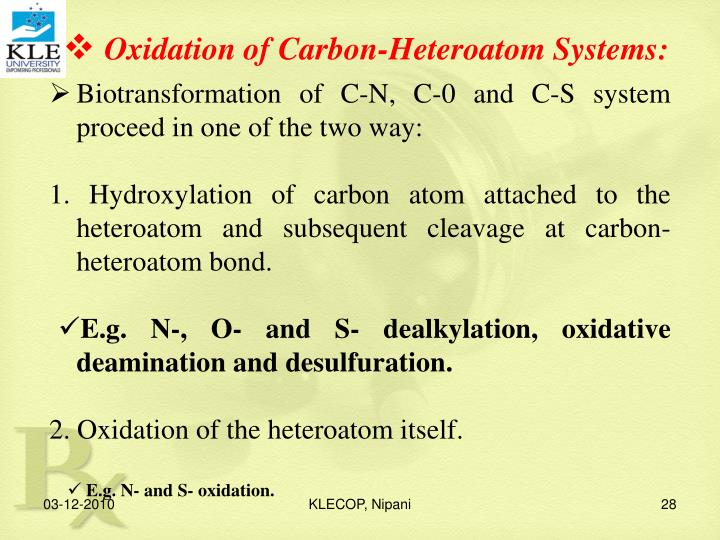 Oxidation of Carbon-Heteroatom Systems: