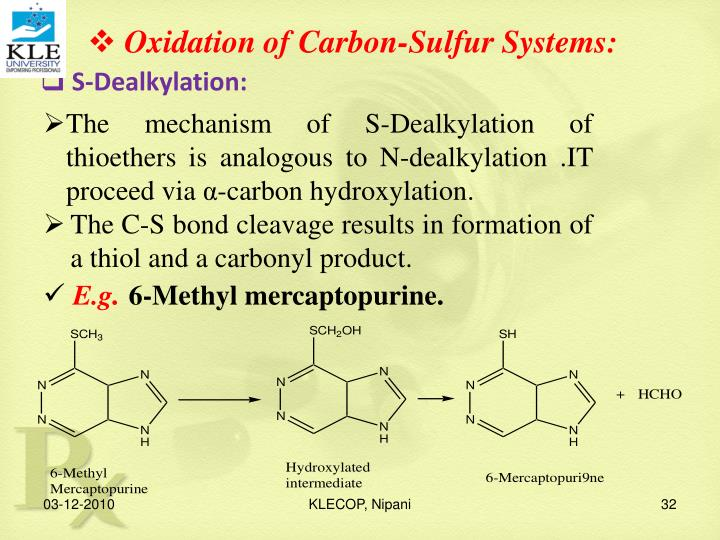 Oxidation of Carbon-Sulfur Systems: