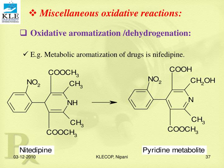 Miscellaneous oxidative reactions: