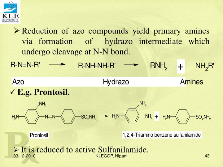 Reduction of azo compounds yield primary amines via formation  of  hydrazo intermediate which undergo cleavage at N-N bond.