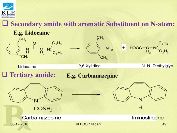 Secondary amide with aromatic Substituent on N-atom: