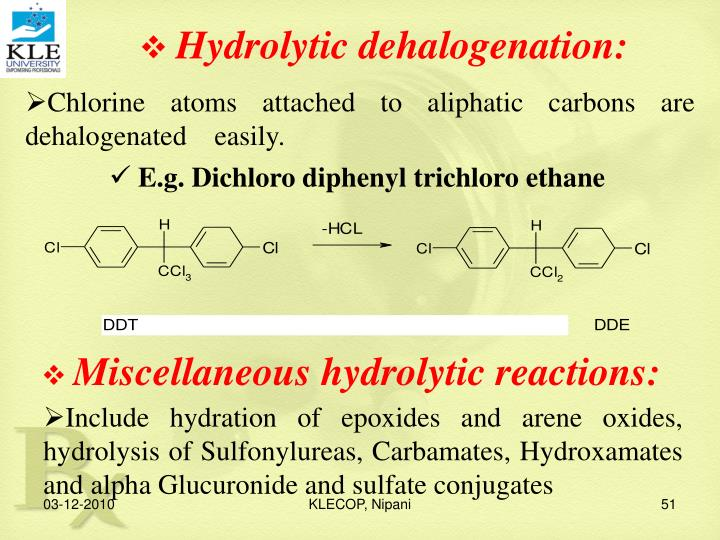 Hydrolytic dehalogenation: