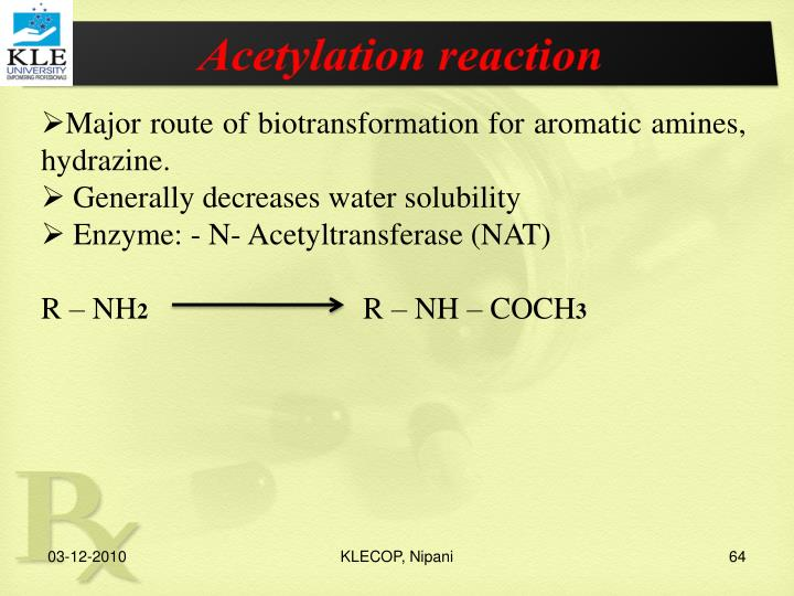 Acetylation reaction