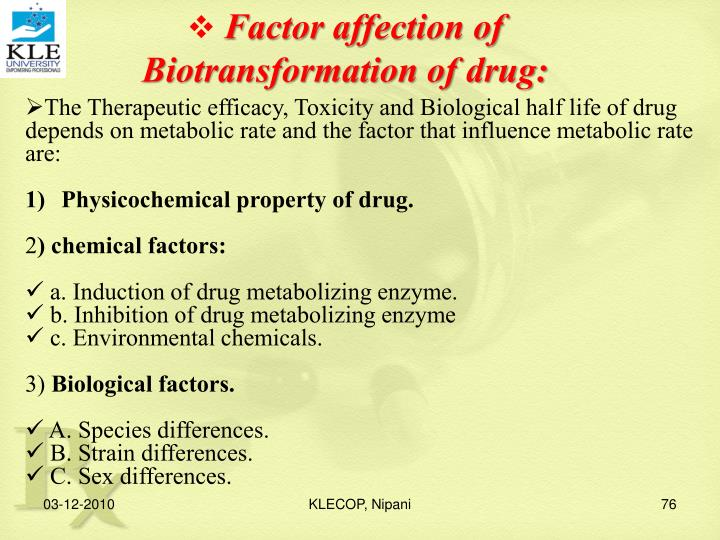 Factor affection of