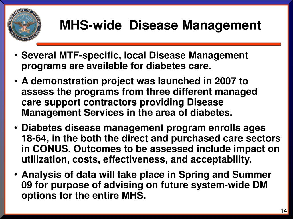 MHS-wide  Disease Management