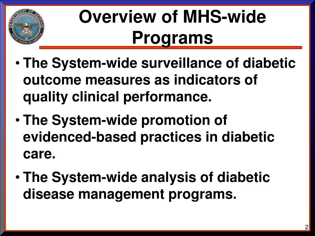 Overview of MHS-wide Programs