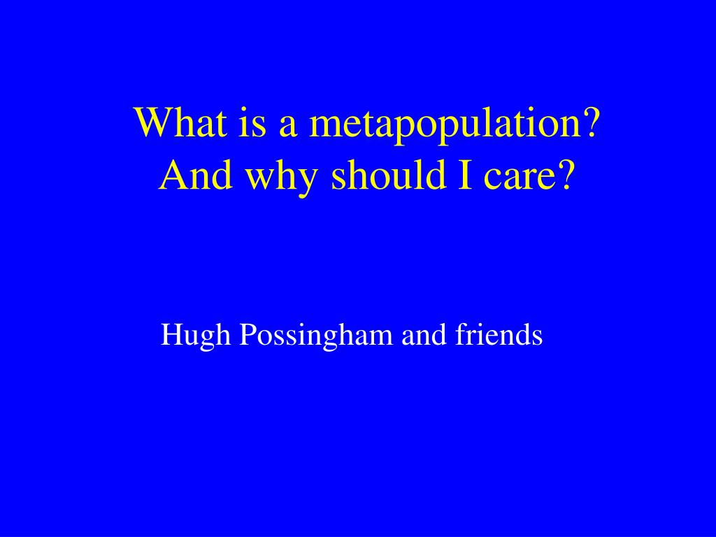 What is a metapopulation?